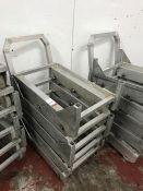 5no. Aluminium Roller Bogies as Lotted