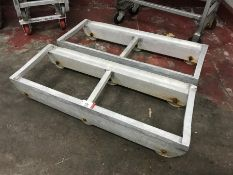 2no. Aluminium Roller Bogies, 400 x 1040mm