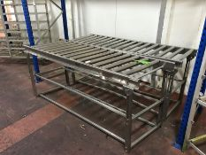2no. Stainless Steel Gravity Powered Rollers, 670 x 2000 x 870mm