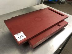 Composite Meat Weighing Board, Top Dimensions: 600 x 300mm, Bottom Dimensions: 450 x 410mm