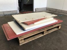 10no. Various Used Composite Topped Cutting Boards for Tables
