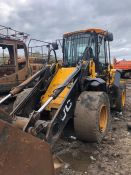 2014 JCB 437 Loading Shovel with Bucket and Solid Tyres. Serial No. 2313044. Please note, this Lot