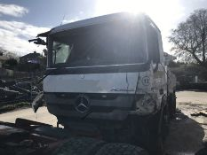 Salvage 2013 Mercedes-Benz Actros 2636 Euro 5 Diesel Lorry and Schwing Lorry mounted Concrete Pump
