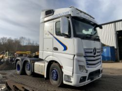 Unreserved Online Auction - 2013 Mercedes Actros 2545 6x2 Mid Lift Tractor Unit