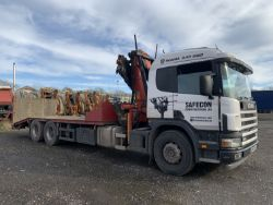 Unreserved Online Auction - Scania 94D 260 Beavertail with Palfinger PK19000 Crane