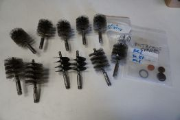 11no. Various Metal Brush Heads as Illustrated
