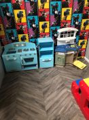 Contents of Play Room Including; Play Kitchens, Table and Toy Ride as Illustrated. Collection