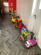Quantity of Various Childrens Toys Including Walkers and Rides. Collection Strictly 09:30 - 15:30