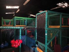 LOT UPDATED Two Tier Soft Play Framework and Contents Including; Slides, Ball Pits, Various Soft