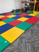 36no. Square Safety Crash Mats with Velcro Connecting Strips, Each Mat: 1140mm x 890mm. Collection