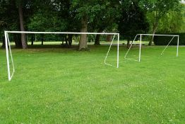 2no. Metal Frame Football Goal Posts 5000 x 1800mm