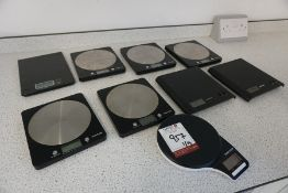9no. Various Digital Weighing Scales as Lotted, Lot Located in Block: 5 Room: 6