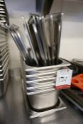 6no. Stainless Steel Gastronorm Pans with Lids, Lot is Located Main Building, Room: Kitchen