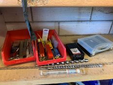 Quantity of Various Drill Bits to Shelf, Lot Located In; Tool Shed