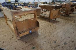 6no. Timber Woodworking Benches Complete with 12no. Woodworking Vices, Lot Located in Block: 5 Room: