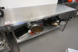 Moffat 2-Tier Full Stainless Steel Prep Table 1800 x 900 x 650mm, Lot is Located Main Building,
