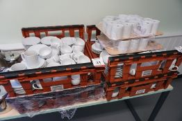 Quantity of Team and Coffee Cups, Saucers and Mugs as Illustrated, Lot is Located Main Building,