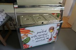 Moffat VCBM3 Versicarte Hot Service Counter with 3-Section Bain Marie Top and Hot Cupboard 1150 x