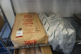 Bag of Unused Caster Cane Sugar & Self Raising Flour, Lot is Located Main Building, Room: Kitchen