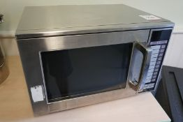 Sharp R24AT Commercial Microwave Oven, Lot is Located Main Building, Room: Canteen