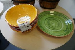 Quantity of Various Plastic Bowls and Plate, Lot is Located Main Building, Room: Canteen
