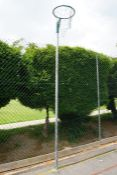 2no. Netball Posts with Hoops as Lotted