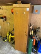 Single-Door Timber Locker with Key, Lot Located In; Tool Shed