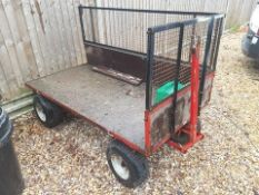 Trailer with Timber Bed and 2no. Sides as Lotted, Petrol Cans Not Included, Bed Size: 900 x
