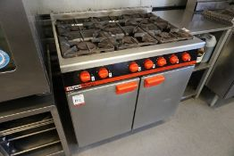 Bartlett Yeoman F30G/91 LPG Gas Cooker with 6-Burner Gas Hob, Lot is Located Main Building, Room: