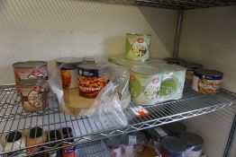 Quantity of Various Tinned Food as Illustrated, Lot is Located Main Building, Room: Kitchen Stores