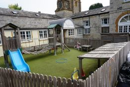 Contents of Outdoor Childrens Play Area Comprising; Timber Adventure Frame with 2no. Platforms,