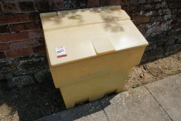 Grit Bin Complete with Quantity of Grit as Lotted
