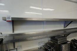 2no. Wall Hung Stainless Steel Shelves 1600mm Long, Lot is Located Main Building, Room: Kitchen