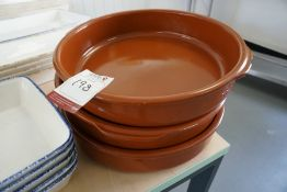 3no. Ceramic Dishes as Lotted, Lot is Located Main Building, Room: Canteen