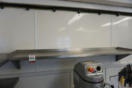 Wall Hung Stainless Steel Shelf 1600mm Long, Lot is Located Main Building, Room: Kitchen