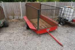 SCH Supplies GATV Cage Trailer with Loading Ramp and Metal Bed, Bed Size: 2100 x 1250 x 1200mm