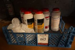 A Crate of Various Absorbent Powders, Lot is Located Main Building, Room: Kitchen Stores
