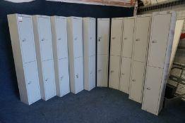 10no. Elite 2 Pod Lockers, 300 x 1800 (h)mm. Note: Only 5no. Keys Present