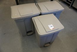 3no. Plastic Pedal Bins, Lot is Located Main Building, Room: Kitchen