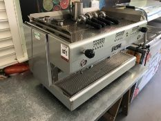 Gaggia Evolution 3GR Triple Head Coffee Machine, Cup Warming Facilities, 4-Espresso Handles,