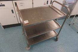 3-Tier Stainless Steel Trolley 830 x 510mm, Lot Located in Block: 5 Room: 6