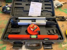 Forge Steel Multi Beam Laser Level Kit, Lot Located In; Tool Shed