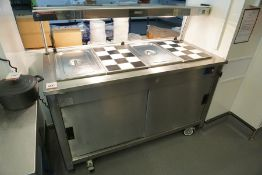 Moffat VCBM4 Versicarte Hot Service Counter with 4-Section Bain Marie Top and Hot Cupboard 1500 x