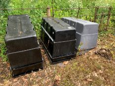 6no. Plastic Water Tanks, Lot Located In; Tool Shed