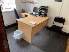 Entire Contents of Office, Lot Located In; MAIN BUILDING, Ground Floor, Front Left Office off