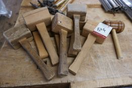 8no. Carpenters Mallets as Lotted, Lot Located in Block: 5 Room: 5
