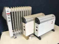 3no. Various Heaters as Lotted Lot is Located Main Building, Room: Reception, Please Note: There