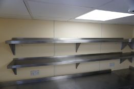 2no. Wall Hung Stainless Steel Shelves 2400mm Long, Lot is Located Main Building, Room: Off Kitchen