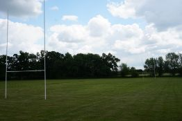 Set of 2no. Steel Rugby Posts, Ground Sockets Not Included