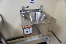 Franke Stainless Steel Hand Wash Sink, Lot is Located Main Building, Room: Off Kitchen